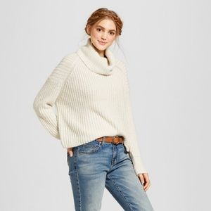 {H&M} Turtleneck Bell Sleeve Cozy Sweater